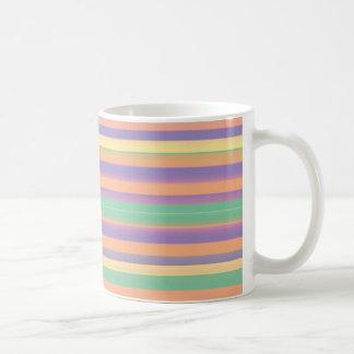 Rayas del sorbete tazas de café