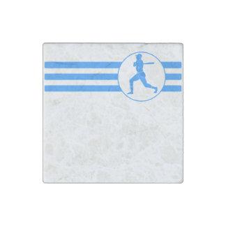 Rayas del talud del béisbol (azules) imán de piedra