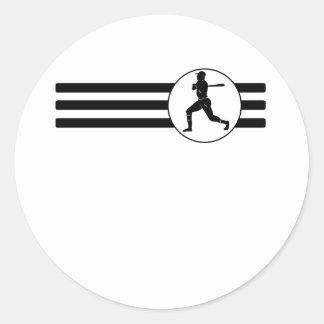 Rayas del talud del béisbol pegatina redonda