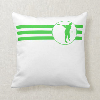 Rayas del talud del béisbol (verde) cojin