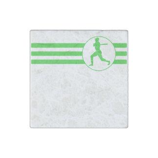 Rayas del talud del béisbol (verde) imán de piedra