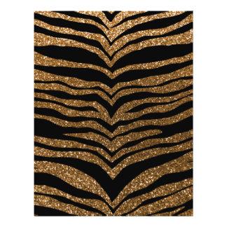 Rayas del tigre del brillo del oro tarjetones