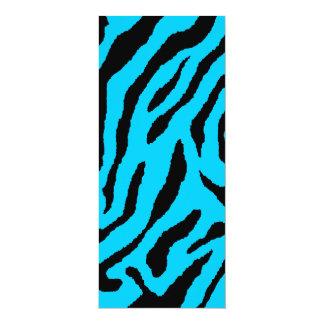 Rayas del tigre del tigre 80s de Corey (azules) Invitaciones Personales