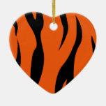 Rayas del tigre ornamento de navidad