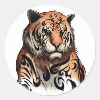 Rayas del tigre - pegatina de la cabeza del tigre