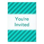Rayas del trullo invitación 12,7 x 17,8 cm