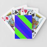 Rayas del verde azul baraja cartas de poker