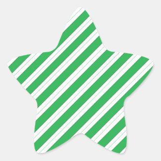 Rayas del verde del bastón de caramelo colcomanias forma de estrellaes personalizadas