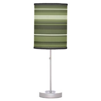 Rayas del verde verde oliva lámpara de mesa