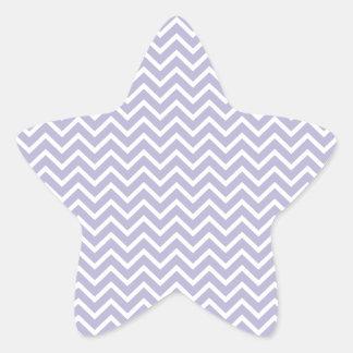 Rayas del zigzag de Chevron de la lavanda Pegatina En Forma De Estrella