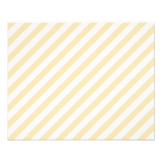 Rayas diagonales beige y blancas tarjetas informativas