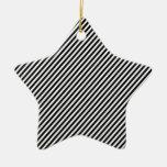 Rayas diagonales blancos y negros ornamentos de reyes magos