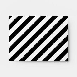 Rayas diagonales blancos y negros sobre