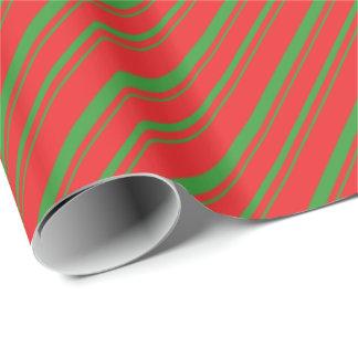 Rayas diagonales de Yule Papel De Regalo
