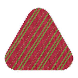 Rayas diagonales del navidad altavoz bluetooth
