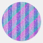 Rayas diagonales femeninas etiquetas redondas