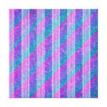Rayas diagonales femeninas lona envuelta para galerias