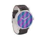 Rayas diagonales femeninas relojes