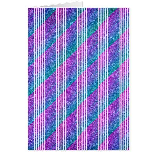 Rayas diagonales femeninas tarjeta de felicitación