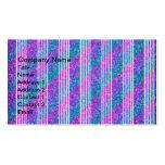 Rayas diagonales femeninas tarjetas de visita