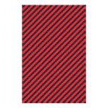 Rayas diagonales negras y rojas finas flyer a todo color