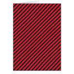 Rayas diagonales negras y rojas finas tarjeton