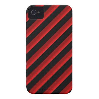 Rayas diagonales negras y rojo sombreadas iPhone 4 protector