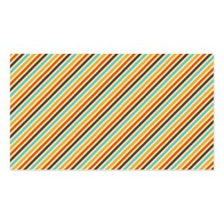 Rayas diagonales retras tarjetas de visita