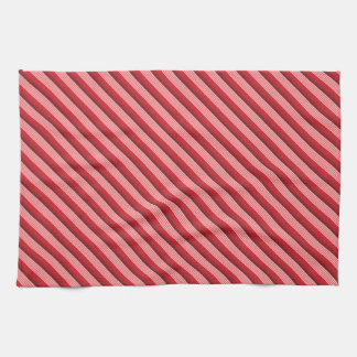 Rayas diagonales rojas toalla de mano