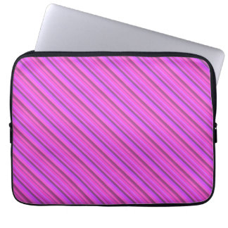Rayas diagonales rosadas mangas computadora