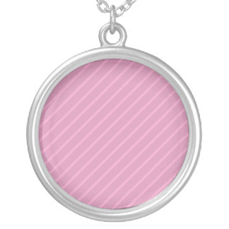 Rayas diagonales rosadas oscuras. Modelo Colgante Redondo