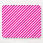 Rayas diagonales rosadas tapetes de ratón