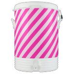 Rayas diagonales rosadas vaso enfriador igloo