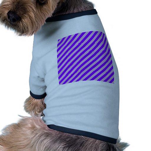 Rayas diagonales - violeta 2 - cardo y violeta camiseta de perro