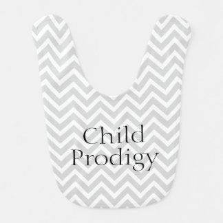 Rayas divertidas de Prodigy de niño Chevron Baberos De Bebé