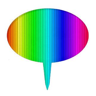 rayas elegantes arco iris palillos de tarta