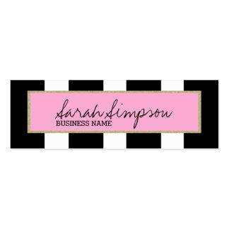 rayas elegantes del brillo tarjetas de visita mini