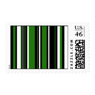 Rayas en blanco y negro verde sello