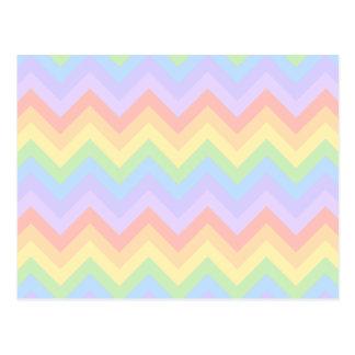 Rayas en colores pastel bonitas del zigzag del tarjeta postal