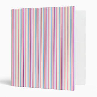 Rayas en colores pastel carpeta 2,5 cm