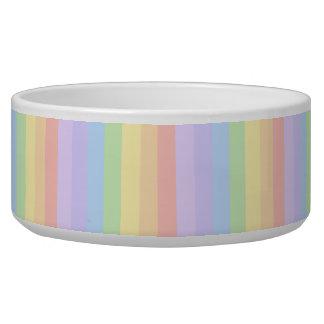 Rayas en colores pastel del arco iris boles para gatos