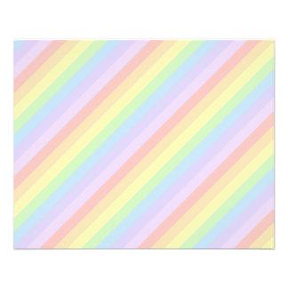 Rayas en colores pastel del arco iris tarjetón