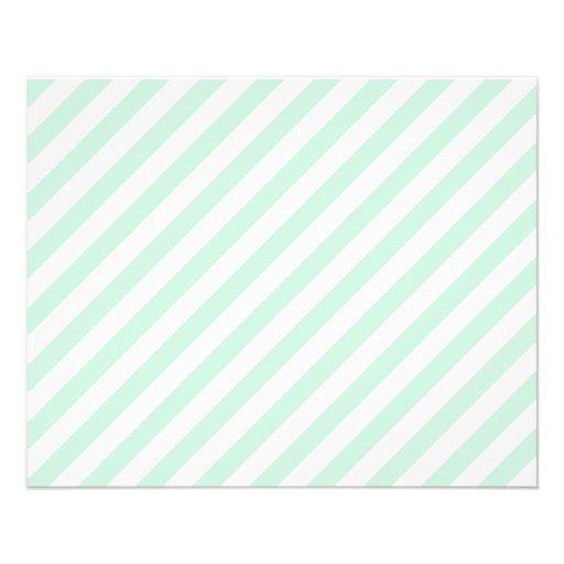 Rayas en colores pastel del verde y del blanco de  tarjetas informativas