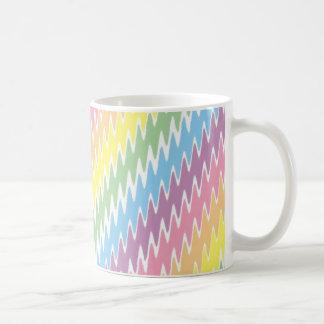 Rayas en colores pastel dentadas taza de café