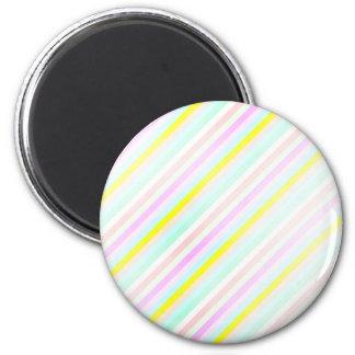 rayas en colores pastel diagonales imán de frigorifico