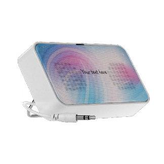 Rayas en colores pastel - diseño abstracto portátil altavoz