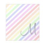 Rayas en colores pastel libretas para notas