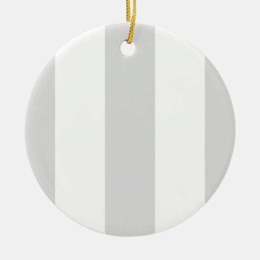 Rayas enormes blancas grises claras adorno de navidad