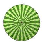 rayas enrrolladas retras del sol de la verde lima tablero de dardos