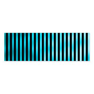 Rayas estrechas de la falsa del trullo aguamarina tarjetas de visita mini
